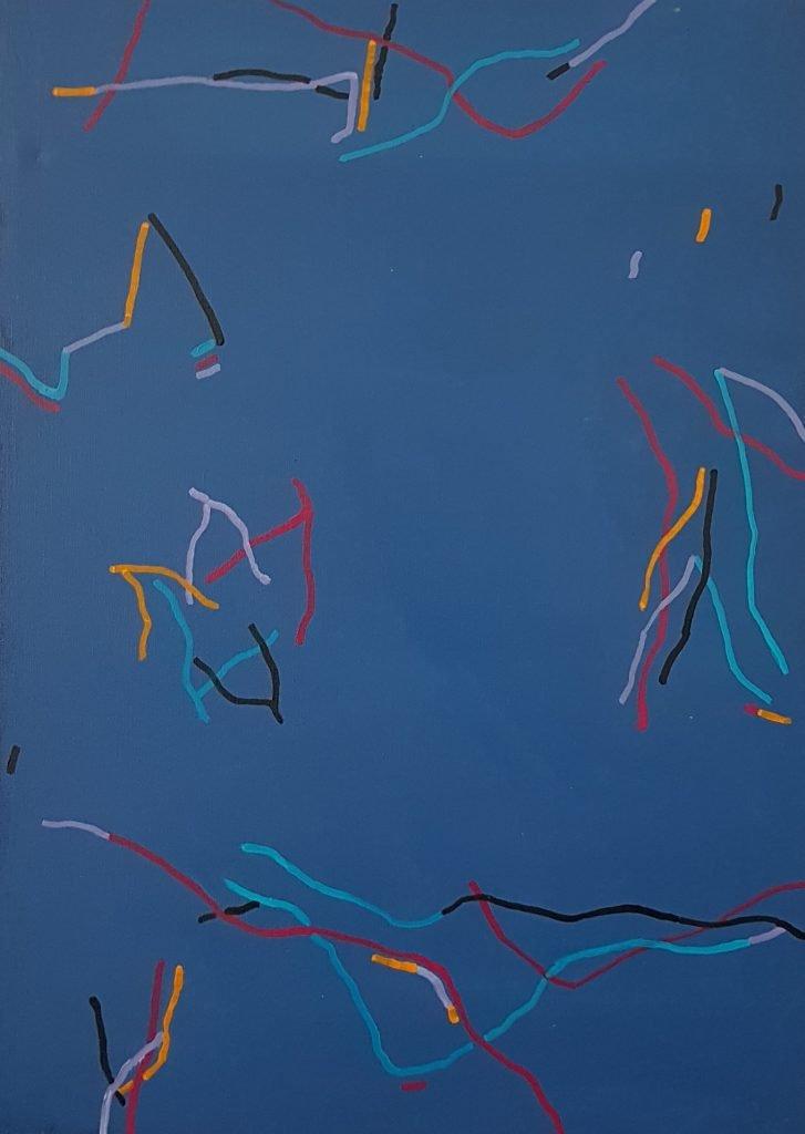 Bruetschy François galerie 21 bleu lacets vifs
