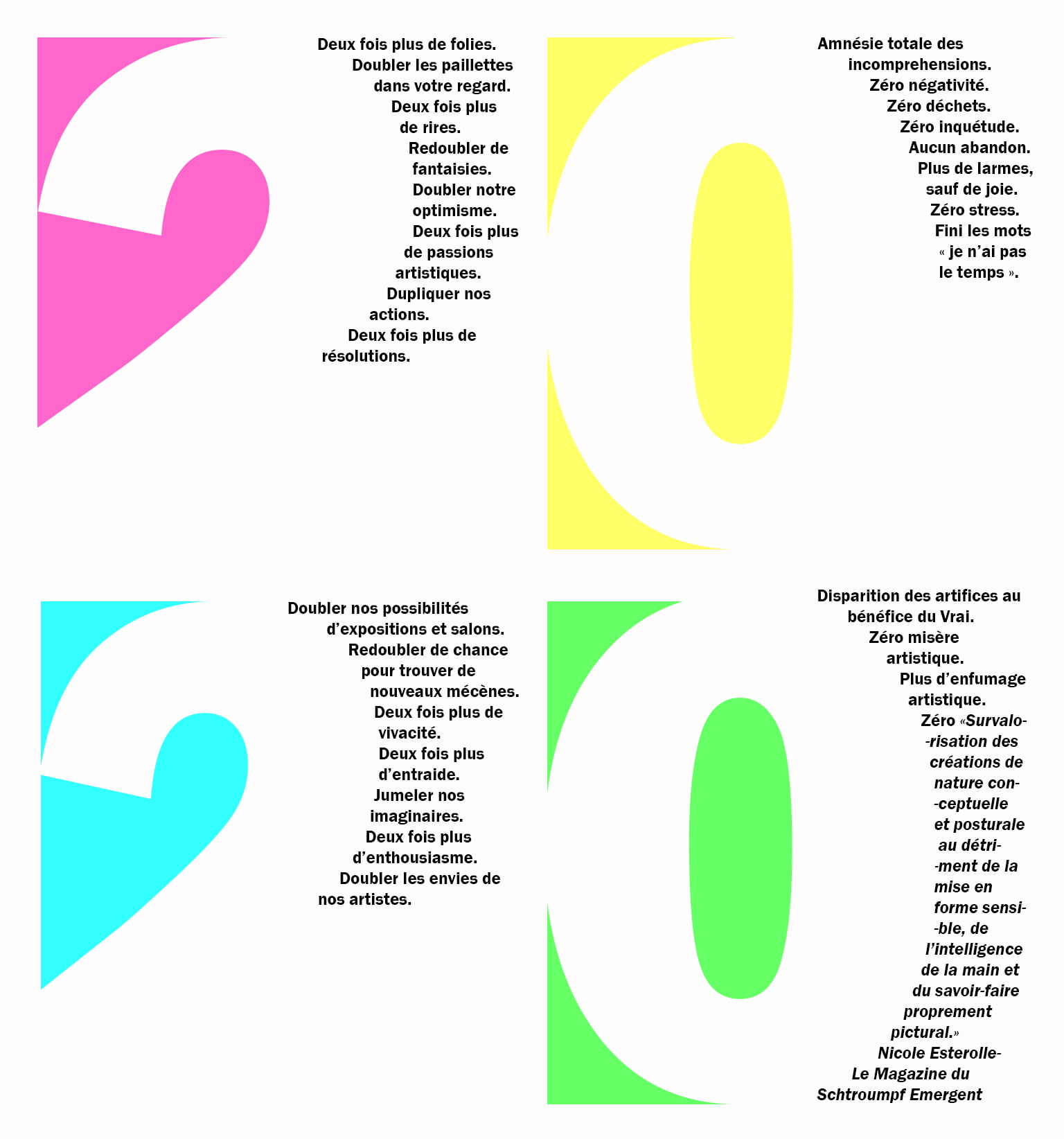souhaits 2020 de la galerie 21