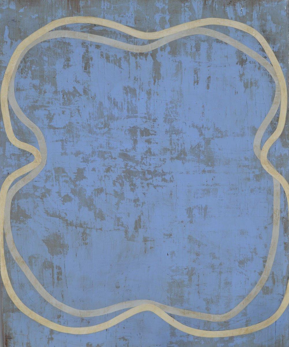 danel francoise galerie 21 grands nus sur fond bleu