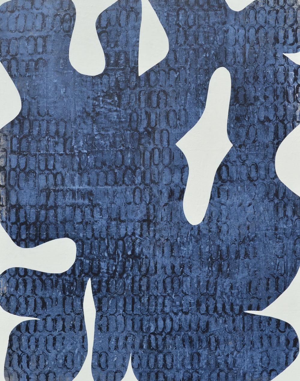 danel francoise galerie 21 forme organique bleue