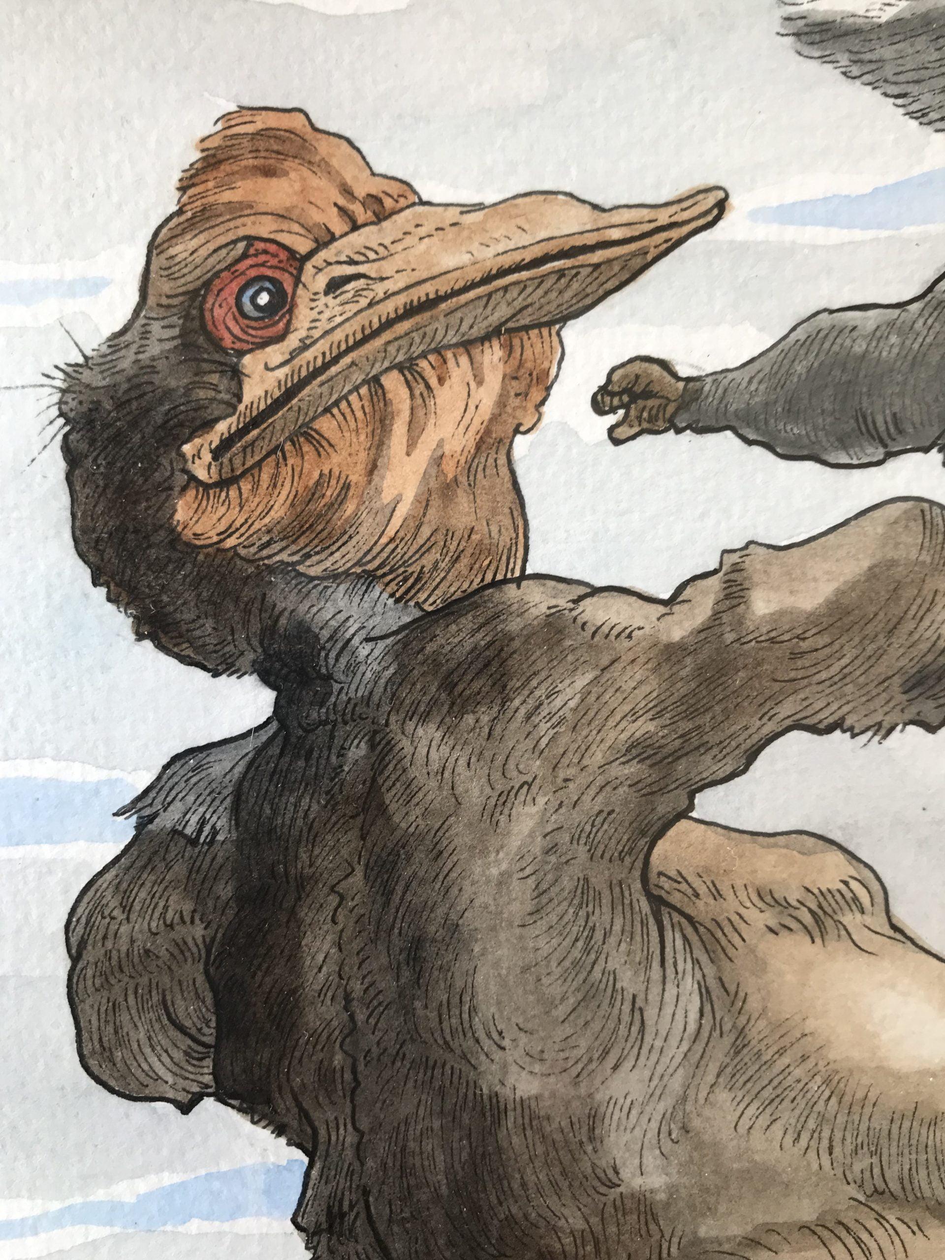 duhamel arrapel daniel galerie 21 cuentos de bichos le grand predateur detail 2