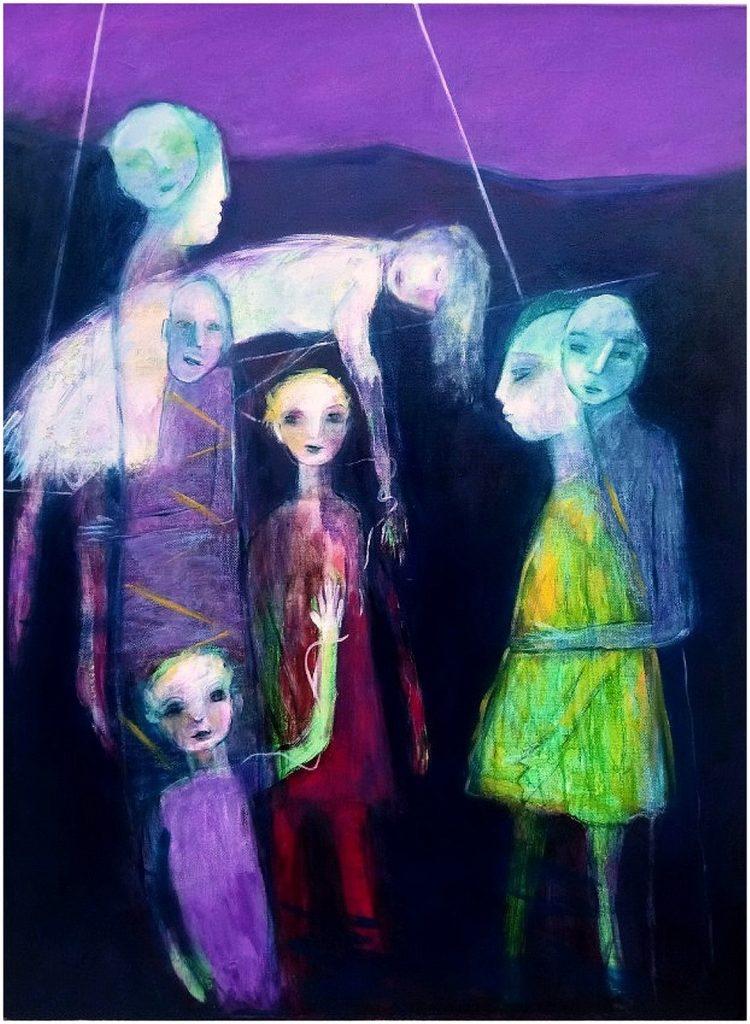 L'aube violette Follana Galerie21