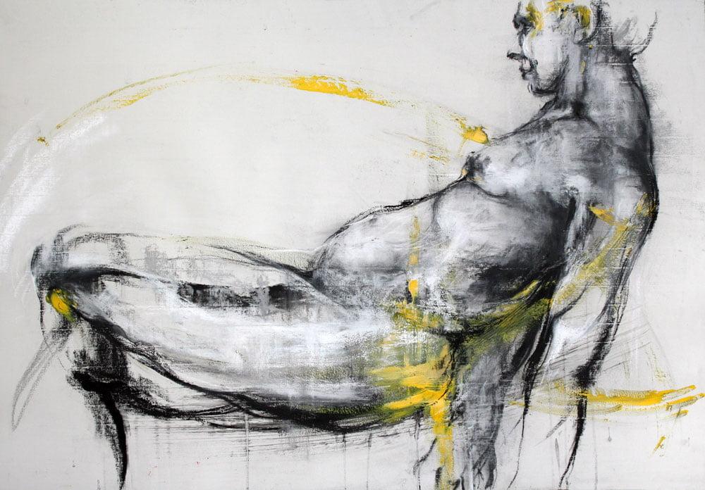 jackie-david-Jaune-1-Galerie 21-70x100
