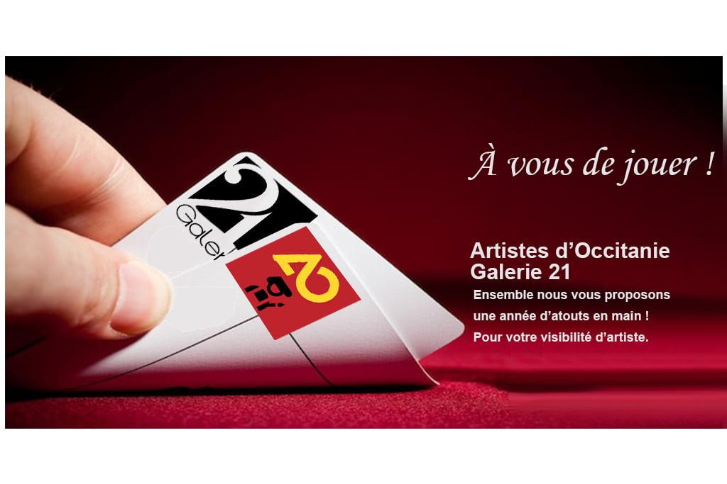 jeu Galerie 21 et Artistes d'occitanie