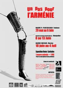 affiche Arménie un pas pour l'armenie Galerie 21