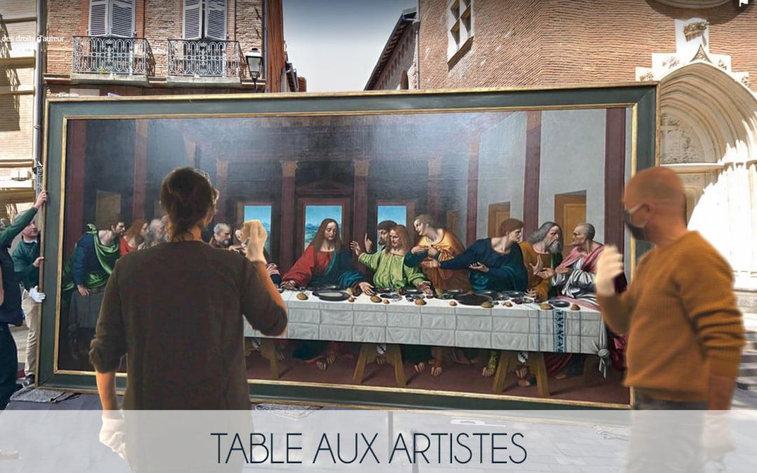 Table aux artistes galerie 21